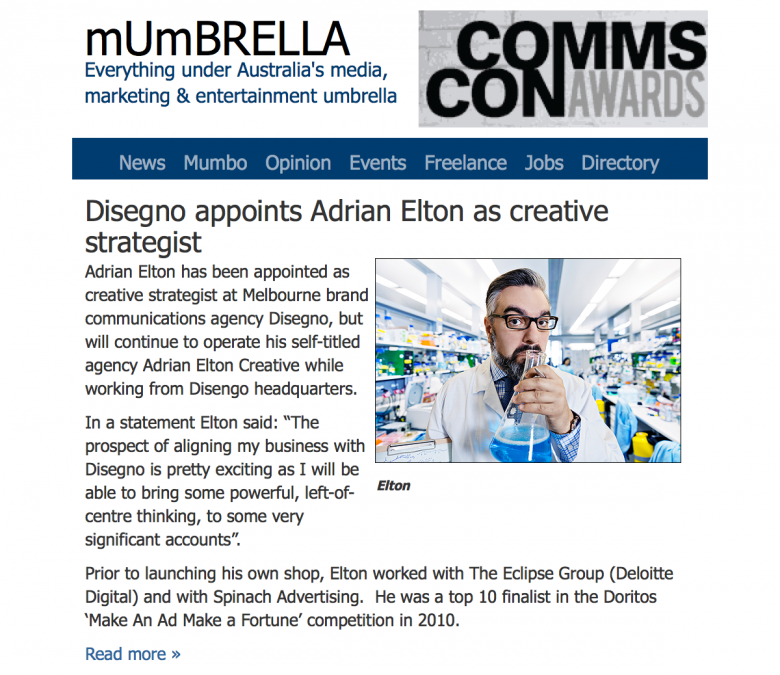 Adrian Joins Disegno Image