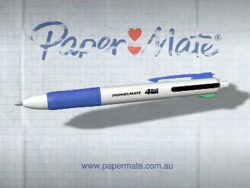 Papermate 4Ball Groove TVC Video Still
