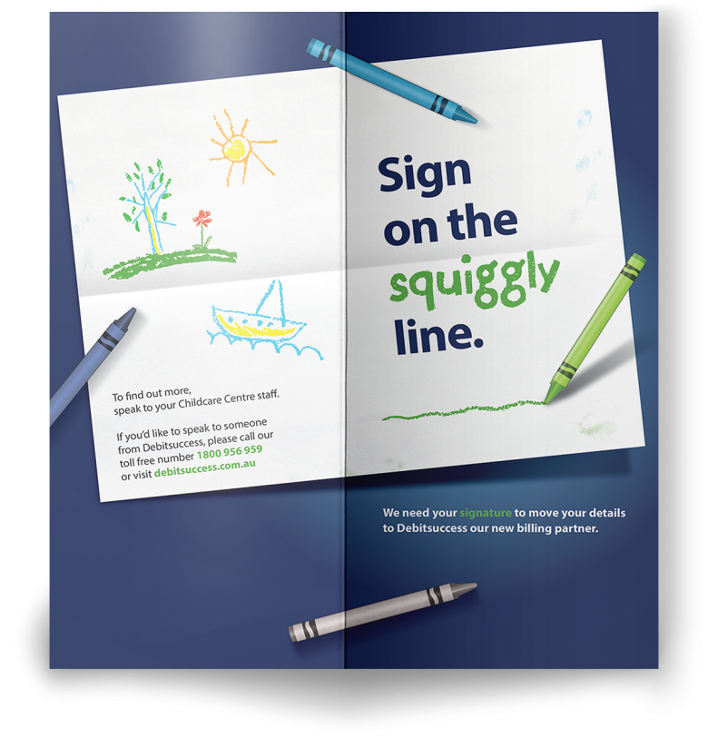 Debitsuccess – Squiggly Line Image